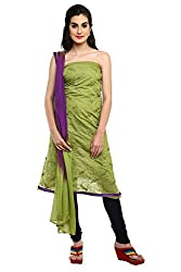 Parchayee Green Synthetic art-silk Dress Material