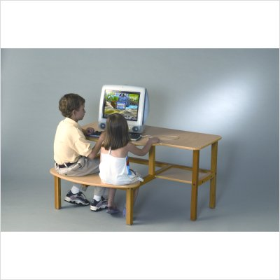 Buy Low Price Comfortable Wild Zoo Grade School Buddy Computer Desk in Maple B/D mpl-wz Trim Color: Maple (B005MY8DAS)