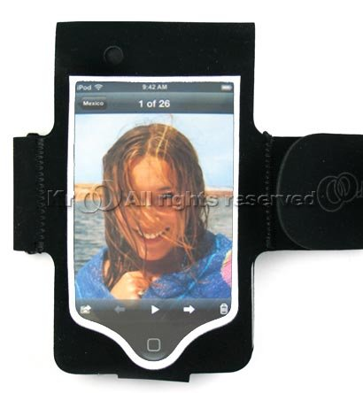 Black Sport Armband Case Cover For Apple itouch I-Touch Water-resistant