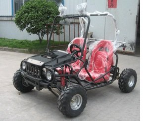TaoTao ATK-125A 125cc BLACK Gas 4 Stroke Semi-Auto Buggy Go Kart