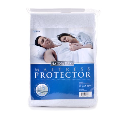 Hanna Kay Mattress Protector Waterproof Breathable and Hypoallergenic Queens Size