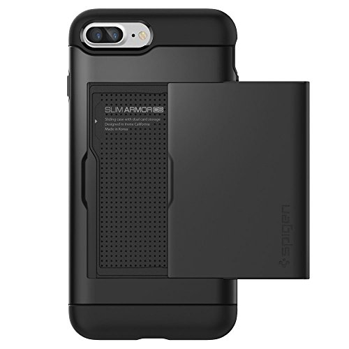 iPhone-7-Plus-Case-Spigen-Slim-Armor-CS-Card-Holder-Black-Slim-Fit-Dual-Layer-Protective-with-Card-Slot-Holder-Wallet-Case-for-Apple-iPhone-7-Plus-2016-043CS20528