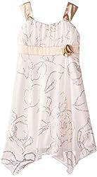 Speechless Little Girls' Hanky Hem Occasion Dress