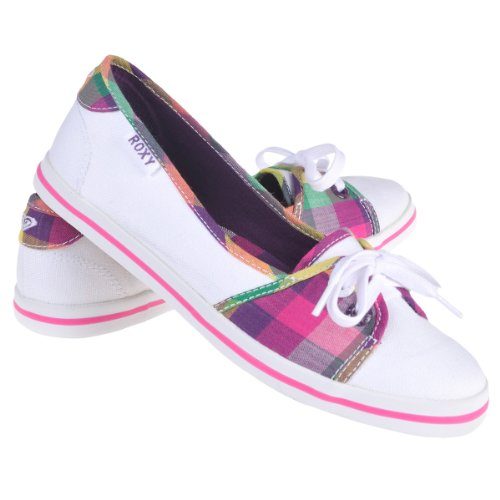 Roxy Solve Ladies Pumps In White XMWSL092. (6)