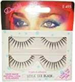 Halloween Dimples 2 Pair Reusable False Eyelashes With Adhesive - Style 113 Black