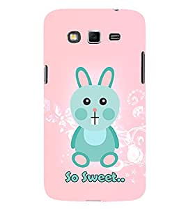 So Sweet Girly Rabbit Cute Fashion 3D Hard Polycarbonate Designer Back Case Cover for Samsung Galaxy Grand 2 :: Samsung Galaxy Grand 2 G7105 :: Samsung Galaxy Grand 2 G7102