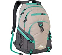 High Sierra Loop Backpack, Almond/Charcoal/Aquamarine, 19 x 13.5 x 8.5-Inch