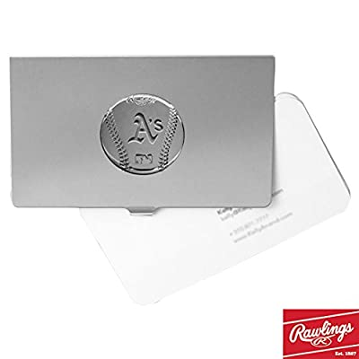 MLB Engraved Rhodium-Plated Business Card Holder
