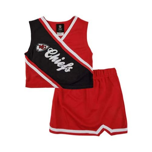 Reebok Two Piece Kansas City Chiefs NFL Cheerleader Uniform Set (Size 2T to 4T)