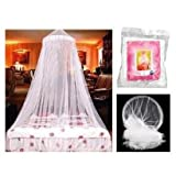 SODIAL- DOME BED KING CANOPY NETTING INSECT FLY MOSQUITO NET WHITE