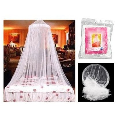 Lowest Price! SODIAL- DOME BED KING CANOPY NETTING INSECT FLY MOSQUITO NET WHITE