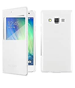 Flip Cover For Samsung Galaxy J2-White With Free Key Ring
