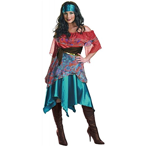[GSG Bohemian Babe Costume Adult Gypsy Fortune Teller Halloween Fancy Dress] (Gothic Maiden Costumes)