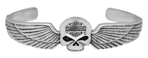 Harley-Davidson® MOD® Men's Skull and Wing Bracelet