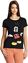 Disney by Genes Women's Body Blouse Shirt (CHD15-057KTBLO_Black_Small)