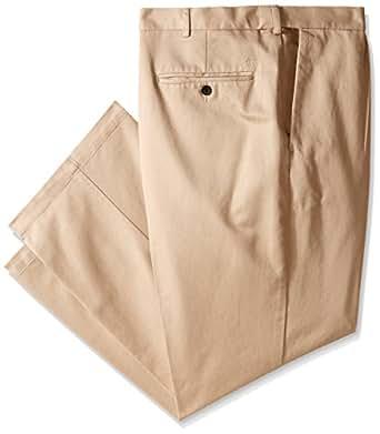 Haggar Men's Work To Weekend Hidden Expandable Waist No Iron Pleat Front Pant,Khaki,30x30