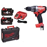 Milwaukee M18CPD-402C M18 Fuel Compact Percussion Drill with Batteries