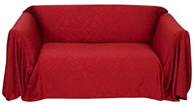 Stylemaster Brianna Jacquard Furniture Throw, Spice Sofa