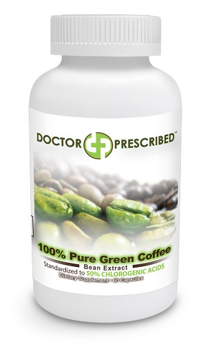 Doctor Prescribed 100% Pure Green Coffee Bean Extract Capsules, 60 Count