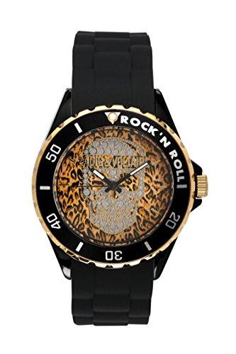 Zadig & Voltaire ZV 044/UA Unisex Watch - Analogue Quartz - Pop Art Design - Yellow Dial / Black Silicone Strap