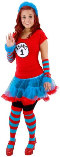 Thing 1 and Thing 2 Tutu Adult Costume
