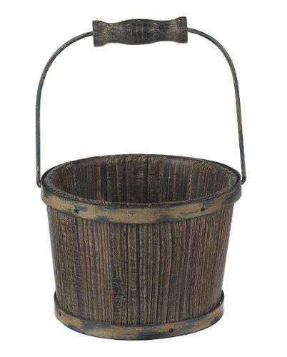 Ganz Fantasy Fairy Garden Display Bucket, Wood