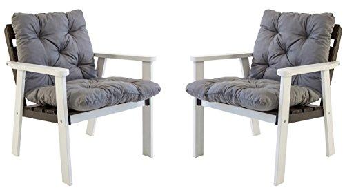 Ambientehome-Gartensessel-Loungesessel-Sessel-Gartenstuhl-Massivholz-inkl-Kissen-HANKO-WeiTaupegrau-2-teiliges-Set