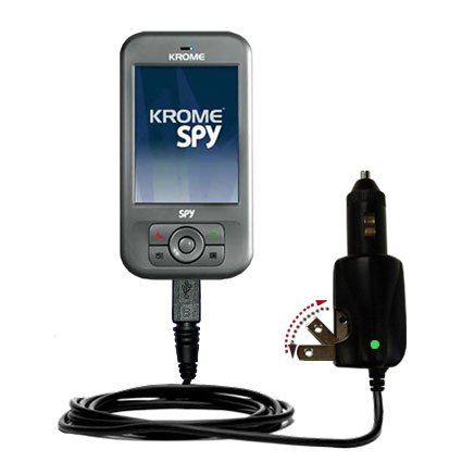 Car and Home 2 in 1 Combo Charger for the Krome Spy - uses Gomadic TipExchange Technology