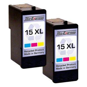 2x Druckerpatrone für Lexmark 15 XL Color X2600 Z2300 Z2310 Z2320 PlatinumSerie