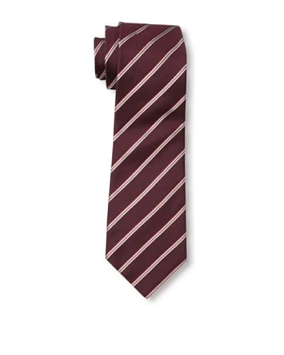 Valentino Men's Double Diagonal Tie, Red