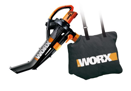 New WORX WG502 TriVac Delux Blower/Mulcher/Vacuum 12.0 Amp with Metal Impeller