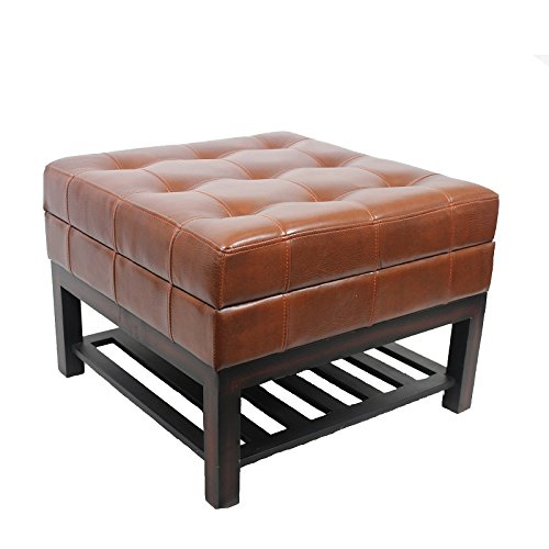 Elegant Vintage Appeal Square Wood Bench by Entrada by Entrada