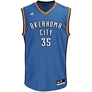 NBA Oklahoma City Thunder Kevin Durant #35 Youth Replica Road Jersey, Blue, Large