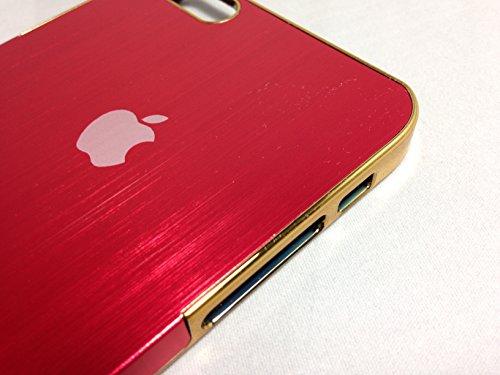 <GTS>IPhone6PLUS アルミハードケース 5.5inch レッド×ゴールド アップルマーク付き IPhone6プラス