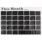 Diy Monthly Chalkboard Calendar Vinyl Wall Decal Removable Planner Mural Wallpaper Wall Stickers 80 X 54cm