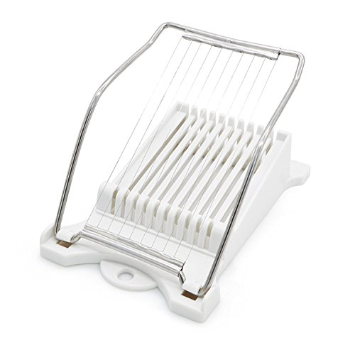 Bagel Slicers, Bread Slicers Luncheon Meat Slicer Cheese Slicer fried Egg Slicer Fruit Slicer Soft Food Slicer Sushi Cutter Pizza Slicer with 10 Cutting Wire in Stainless Steel (Cutting Glove For Slicers compare prices)