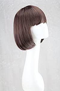 "RoyalStyle® 8"" 30cm Short Hair Wig Natural As Real Hair Cosplay Wigs Neat Bangs Bob Wigs(Brown)"