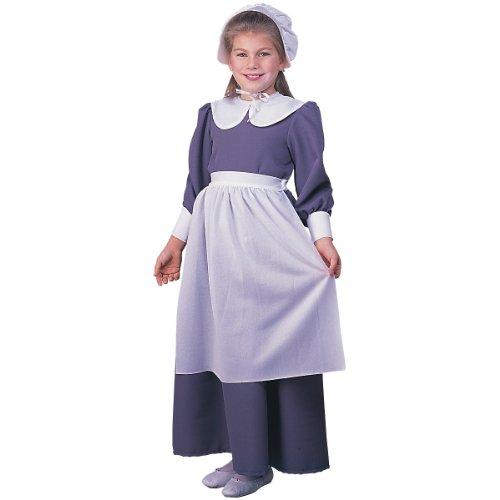 [Pilgrim Girl Costume, As Shown, Child Small] (Indian And Pilgrim Costumes)