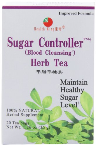 Health King  Sugar Controller Herb Tea, Teabags, 20-Count Box (Pack of 4) (Sugar Controller compare prices)