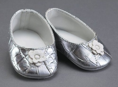 "Silver Ballet Flat Shoes ~ Fits 18"" American Girl Dolls"