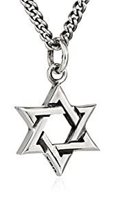 "King Baby ""Star of David"" Men's Large Star of David Pendant Necklace"