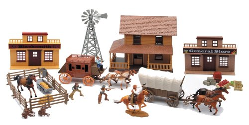 Buy New Ray 1/32 Big Western Playset