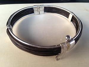 Vintage Elephant Hair Bracelet with Sterling Silver