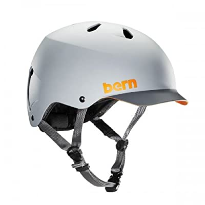 Bern Men's Watts Helmet - Matte Grey with Grey Brim, Small/54-55.5cm by Bern