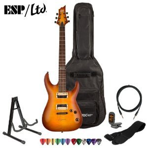 Esp Ltd H-101Fm-Asb Electric Guitar Kit - Includes: Gig Bag, Strap, Stand, Tuner, 10 Feet Cable And Pick Sampler