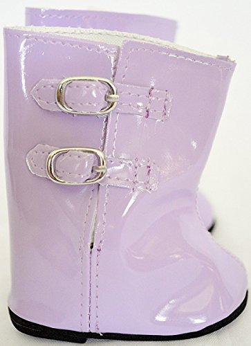 LAVENDAR RAIN BOOTS FITS AMERICAN GIRL DOLLS AND BITTY TWINS- 18 INCH DOLL CLOTHES