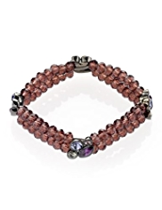 M&S Collection Cluster Gem Stretch Bracelet