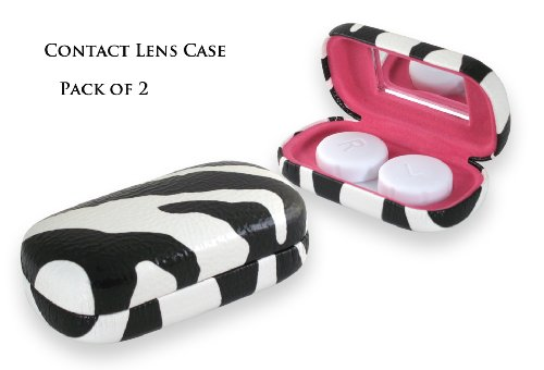Stylish Contact Lens Case / holder with mirror (Pack of 2)(AS411)
