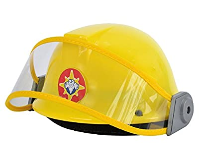 Simba 109250741 - Feuerwehrmann Sam Helm in gelb 23cm