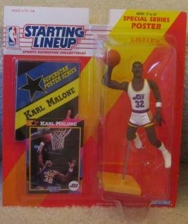 KARL MALONE 1992 UTAH JAZZ STARTING LINEUP FIGURE KENNER
